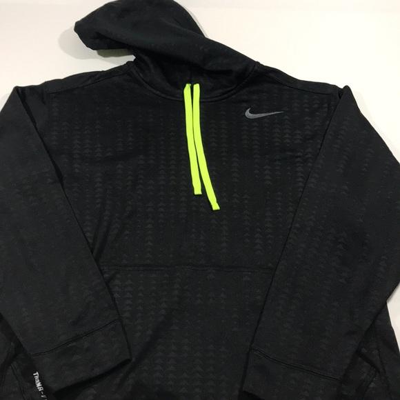 Men's Nike neon hoodie fit black I3 yellow therma 6gvYbfy7